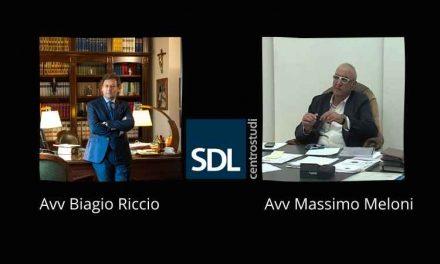 Paola agli avvocati di SDL Centrostudi, Massimo Meloni e Biagio Riccio